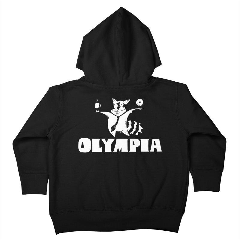 Olympia Raccoon Kids Toddler Zip-Up Hoody by P. Calavara's Artist Shop