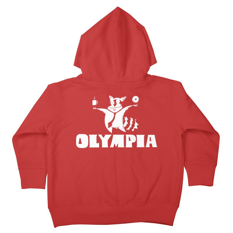 Olympia Raccoon Kids Toddler Zip-Up Hoody by P. Calavara's Artist Shop