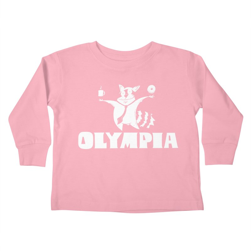 Olympia Raccoon Kids Toddler Longsleeve T-Shirt by P. Calavara's Artist Shop