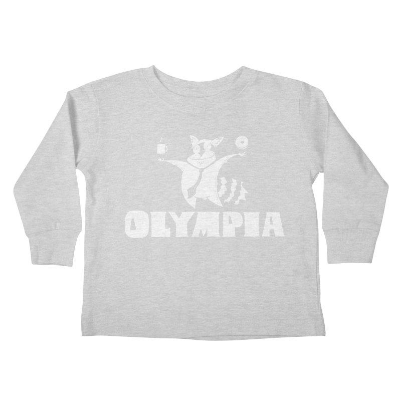 Olympia Raccoon Kids Toddler Longsleeve T-Shirt by P. Calavara's Artist Shop
