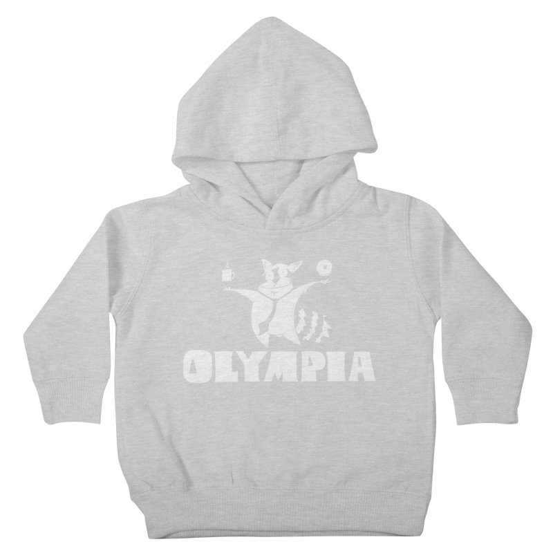 Olympia Raccoon Kids Toddler Pullover Hoody by P. Calavara's Artist Shop