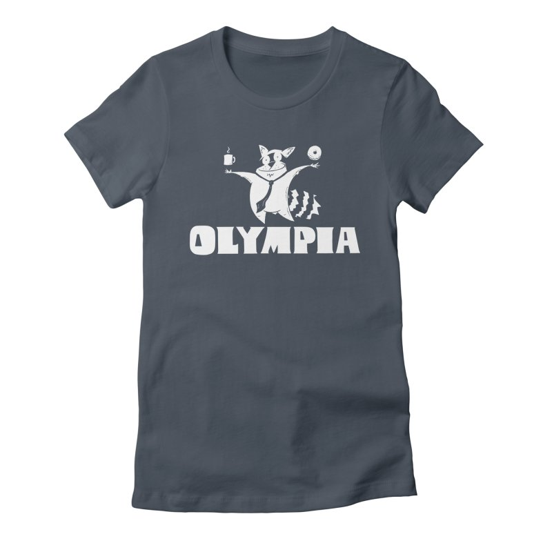 Olympia Raccoon Women's T-Shirt by P. Calavara's Artist Shop