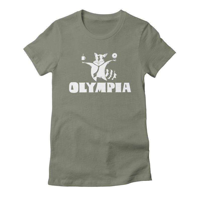 Olympia Raccoon Women's T-Shirt by P. Calavara's Artist Shop