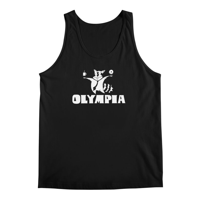 Olympia Raccoon Men's Regular Tank by P. Calavara's Artist Shop