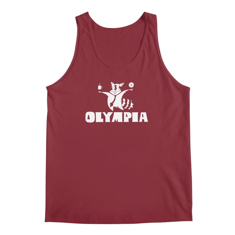 Olympia Raccoon Men's Tank by P. Calavara's Artist Shop