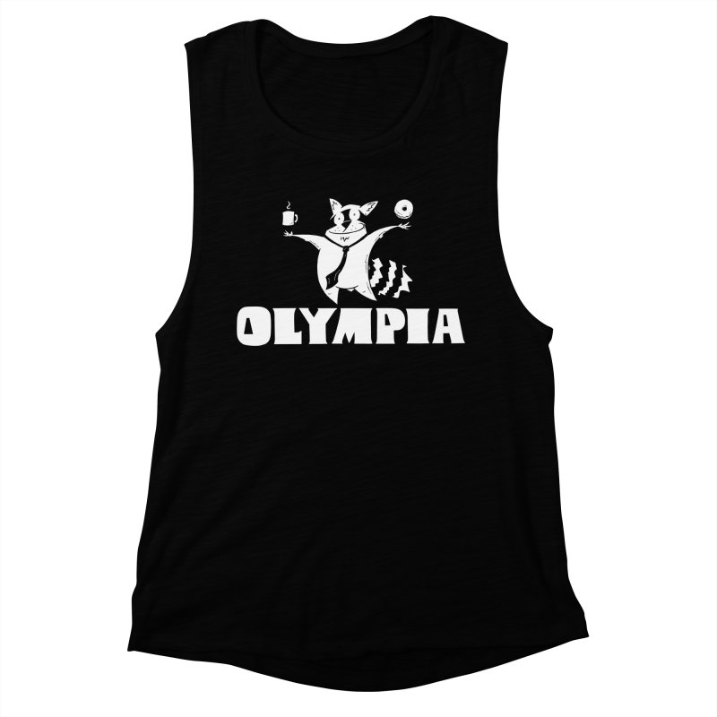 Olympia Raccoon Women's Muscle Tank by P. Calavara's Artist Shop