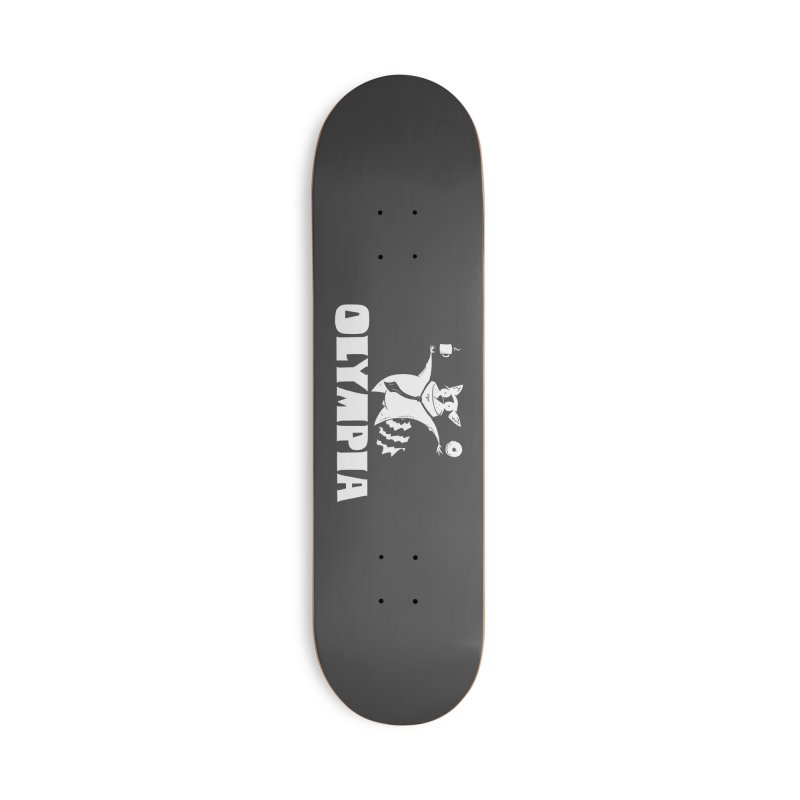 Olympia Raccoon Accessories Deck Only Skateboard by P. Calavara's Artist Shop
