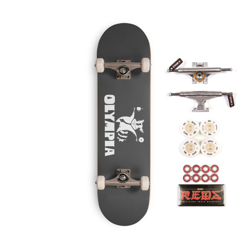 Olympia Raccoon Accessories Complete - Pro Skateboard by P. Calavara's Artist Shop