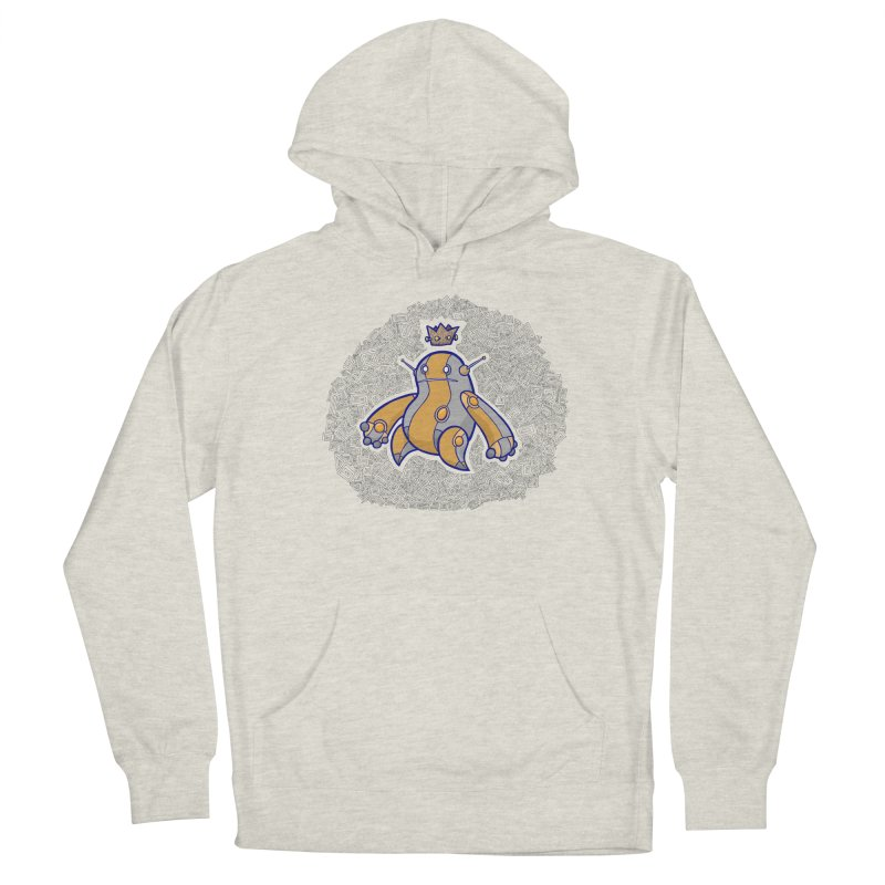 King of Robots Men's French Terry Pullover Hoody by P. Calavara's Artist Shop