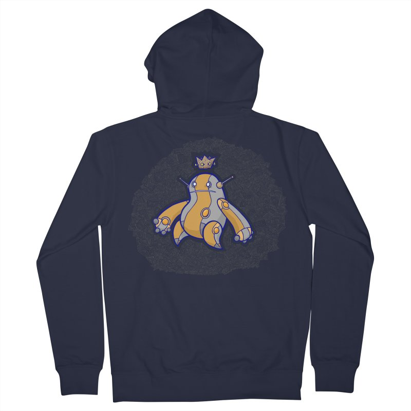 King of Robots Men's French Terry Zip-Up Hoody by P. Calavara's Artist Shop