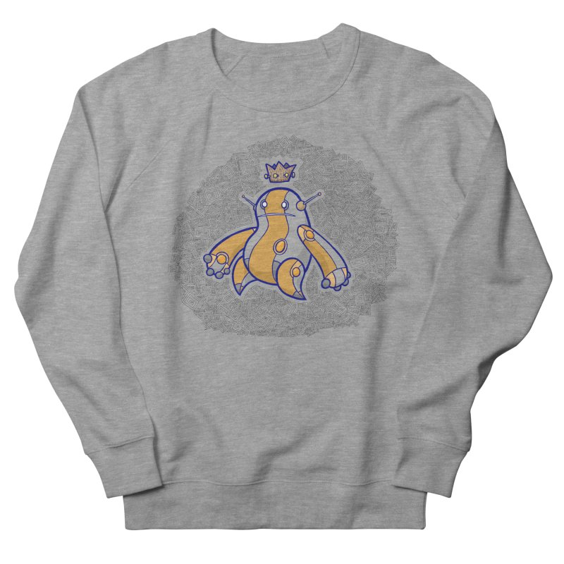 King of Robots Men's French Terry Sweatshirt by P. Calavara's Artist Shop