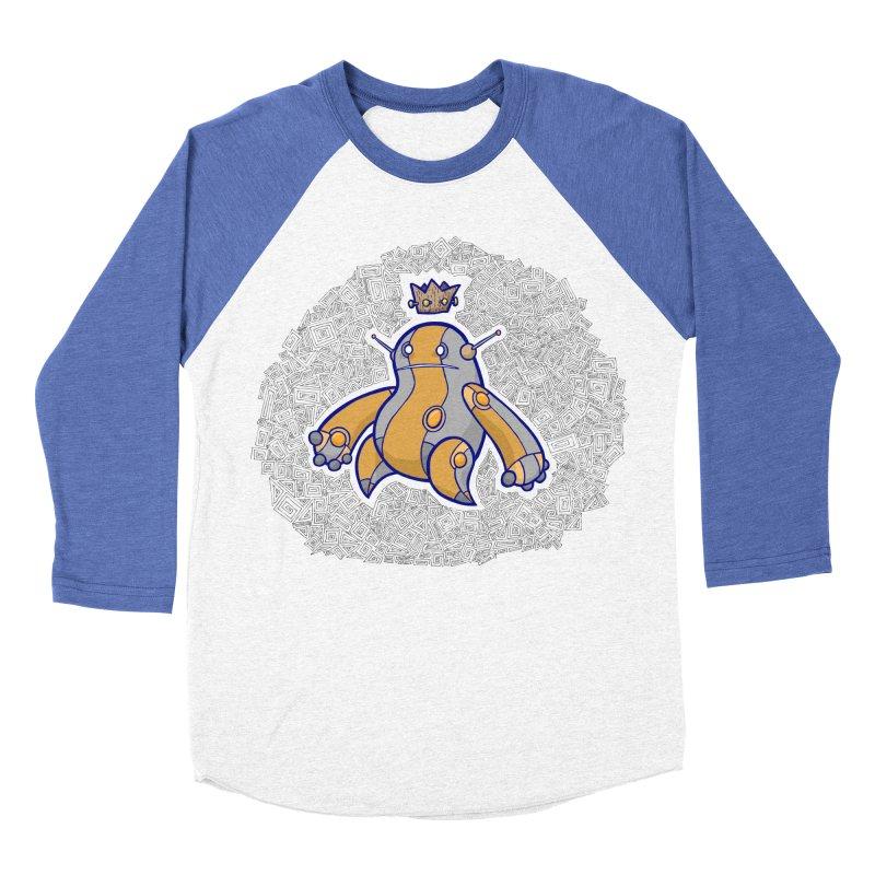 King of Robots Women's Baseball Triblend Longsleeve T-Shirt by P. Calavara's Artist Shop