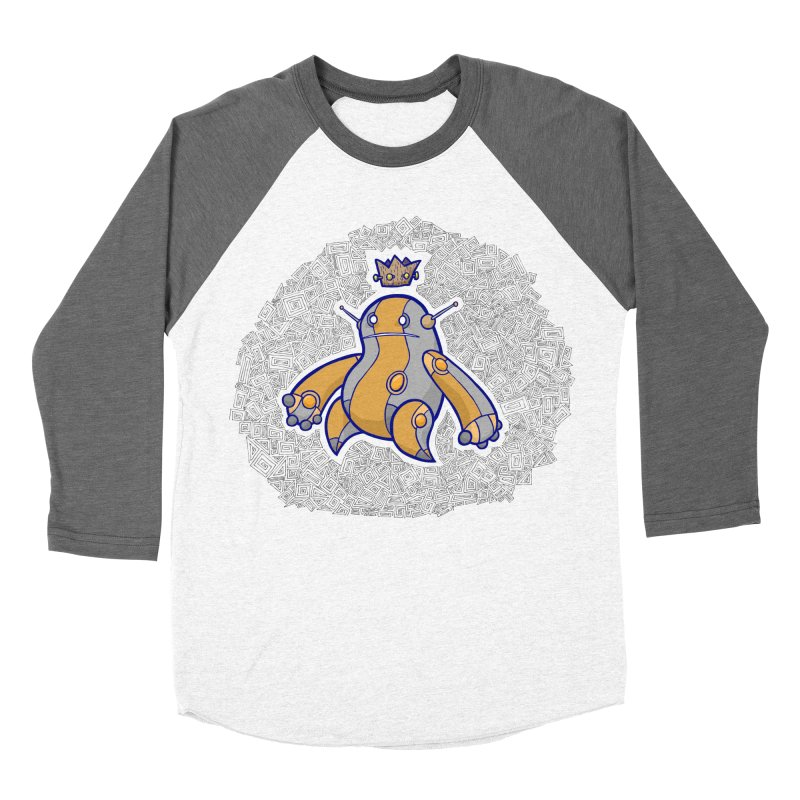 King of Robots Men's Baseball Triblend Longsleeve T-Shirt by P. Calavara's Artist Shop