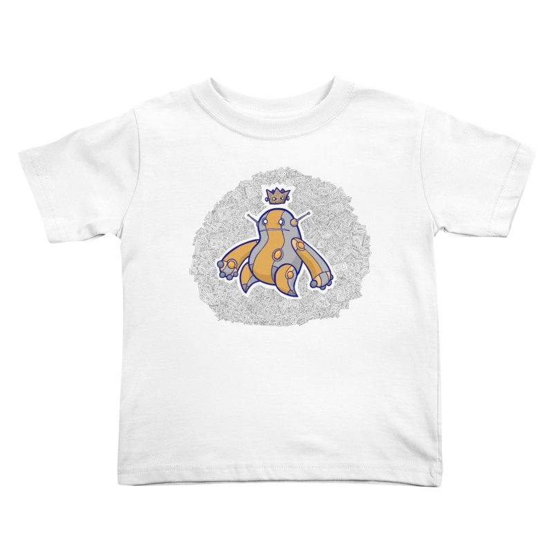 King of Robots Kids Toddler T-Shirt by P. Calavara's Artist Shop