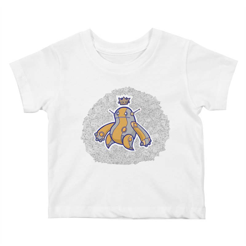 King of Robots Kids Baby T-Shirt by P. Calavara's Artist Shop