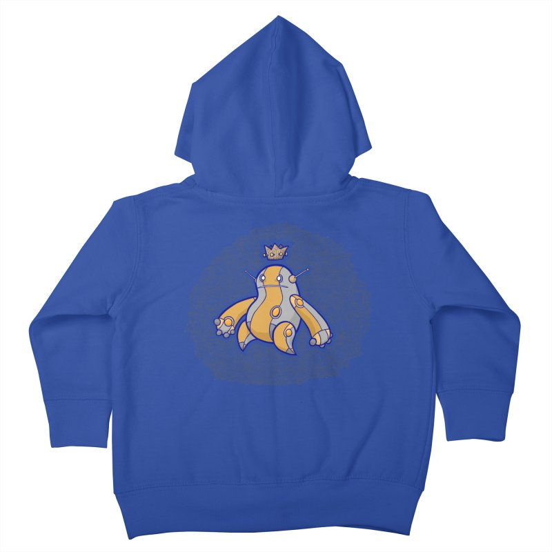King of Robots Kids Toddler Zip-Up Hoody by P. Calavara's Artist Shop