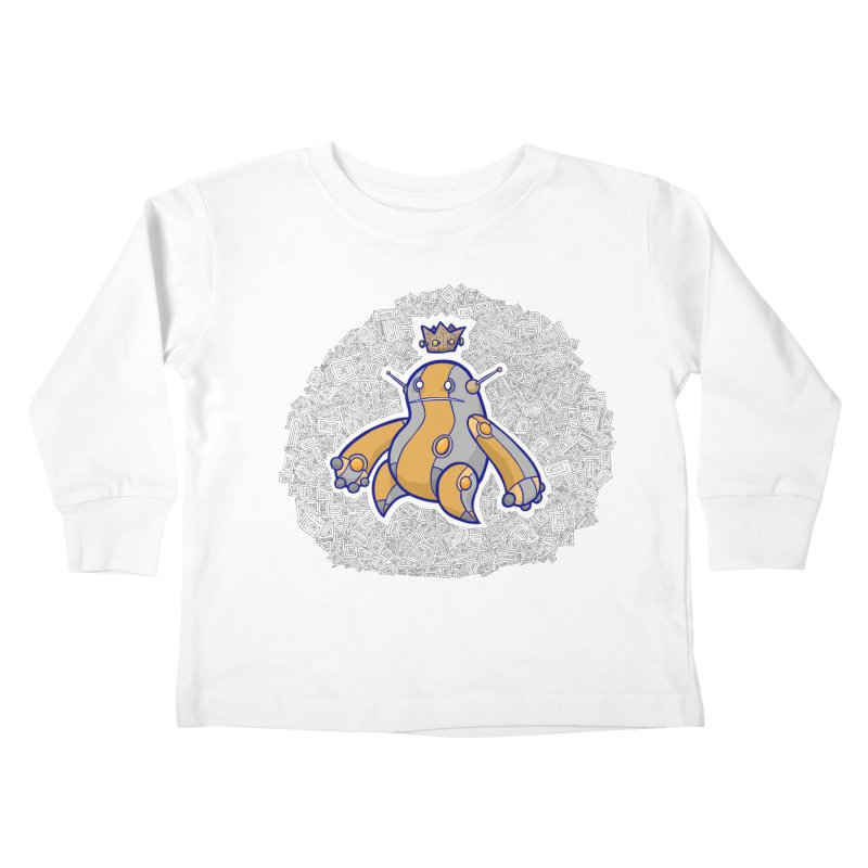 King of Robots Kids Toddler Longsleeve T-Shirt by P. Calavara's Artist Shop