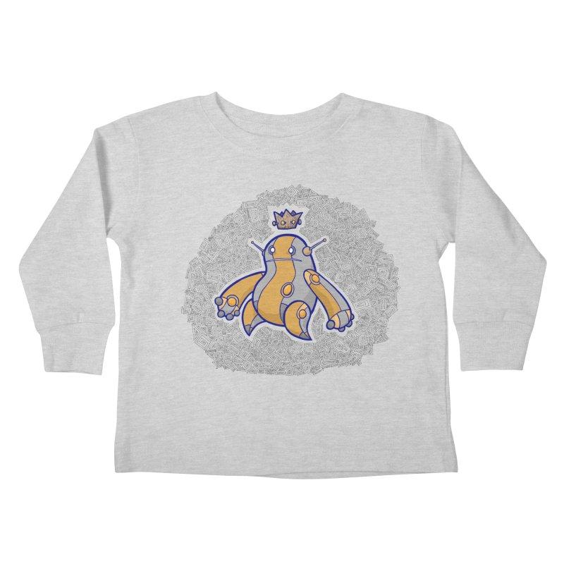 King of Robots Kids Toddler Longsleeve T-Shirt by P. Calavara's Artist Shop