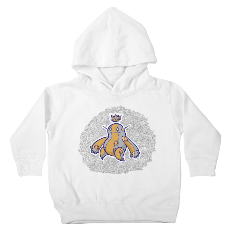 King of Robots Kids Toddler Pullover Hoody by P. Calavara's Artist Shop