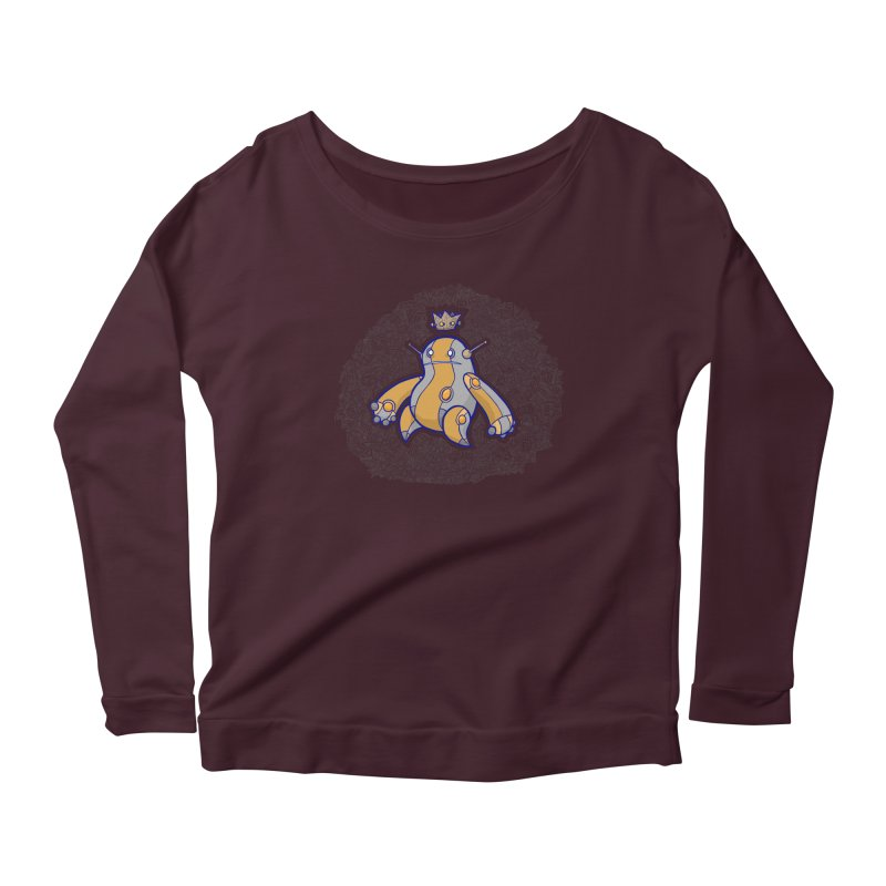 King of Robots Women's Scoop Neck Longsleeve T-Shirt by P. Calavara's Artist Shop