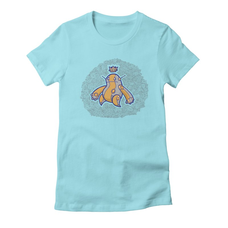 King of Robots Women's Fitted T-Shirt by P. Calavara's Artist Shop
