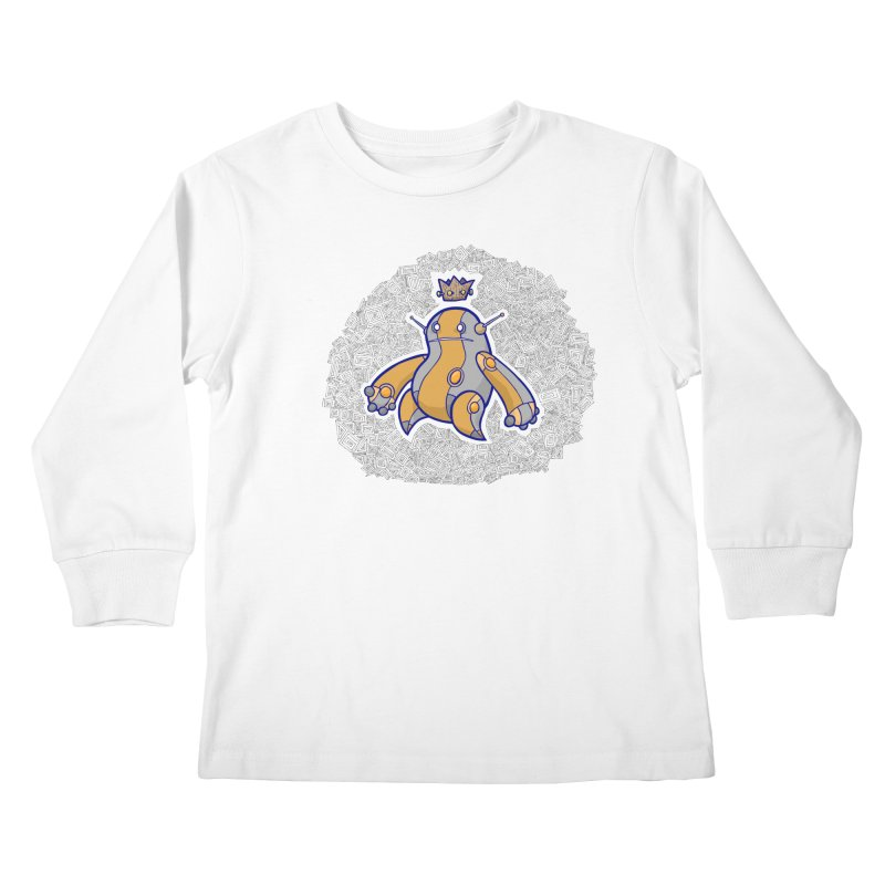 King of Robots Kids Longsleeve T-Shirt by P. Calavara's Artist Shop