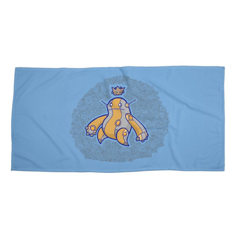 King of Robots Accessories Beach Towel by P. Calavara's Artist Shop