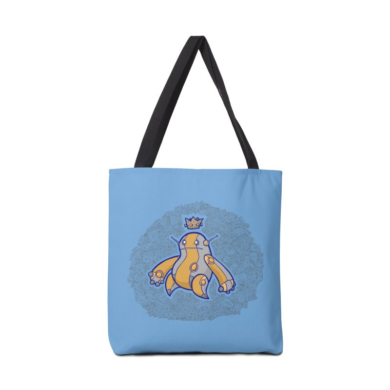 King of Robots Accessories Tote Bag Bag by P. Calavara's Artist Shop