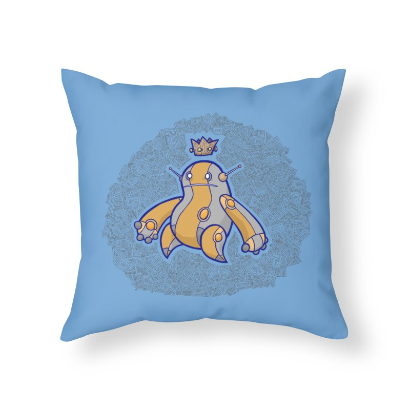 King of Robots Home Throw Pillow by P. Calavara's Artist Shop