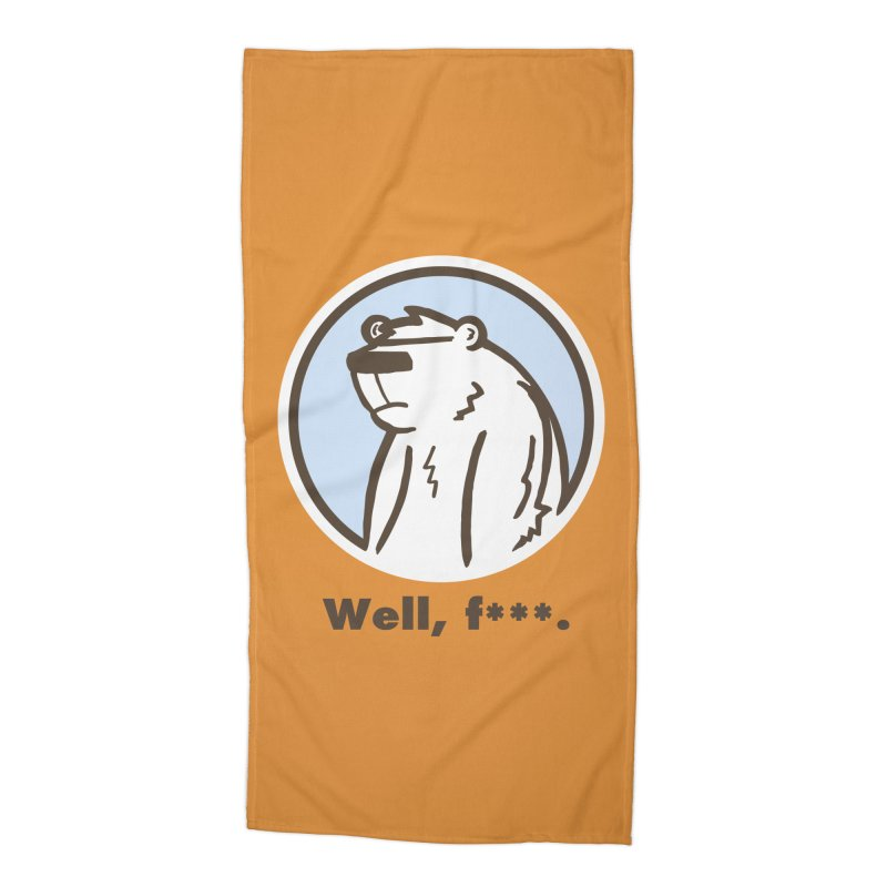 Well, cuss. Accessories Beach Towel by P. Calavara's Artist Shop