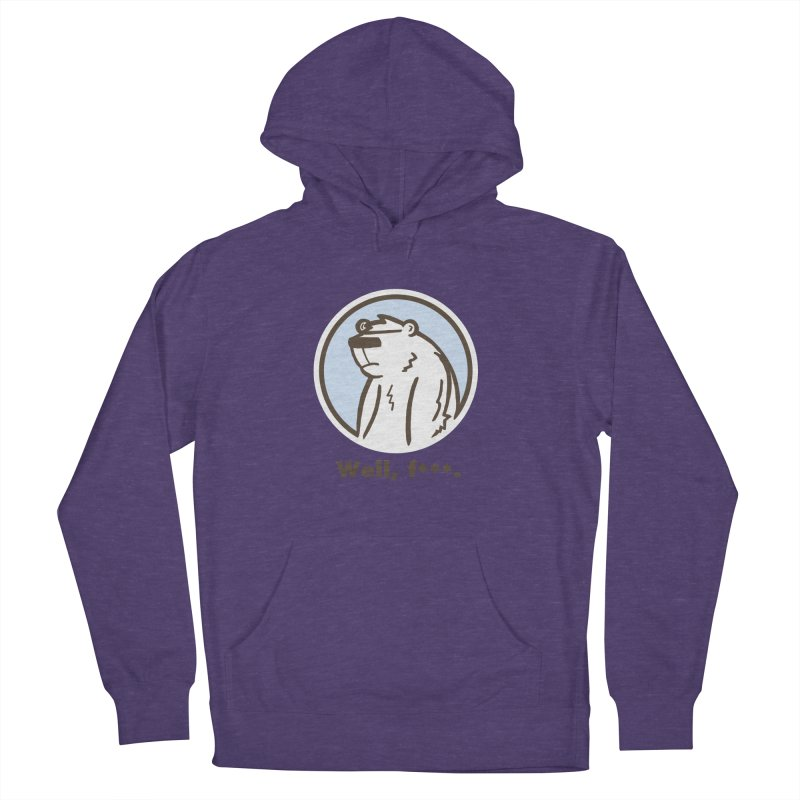 Well, cuss. Men's French Terry Pullover Hoody by P. Calavara's Artist Shop