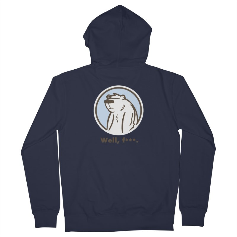 Well, cuss. Women's French Terry Zip-Up Hoody by P. Calavara's Artist Shop