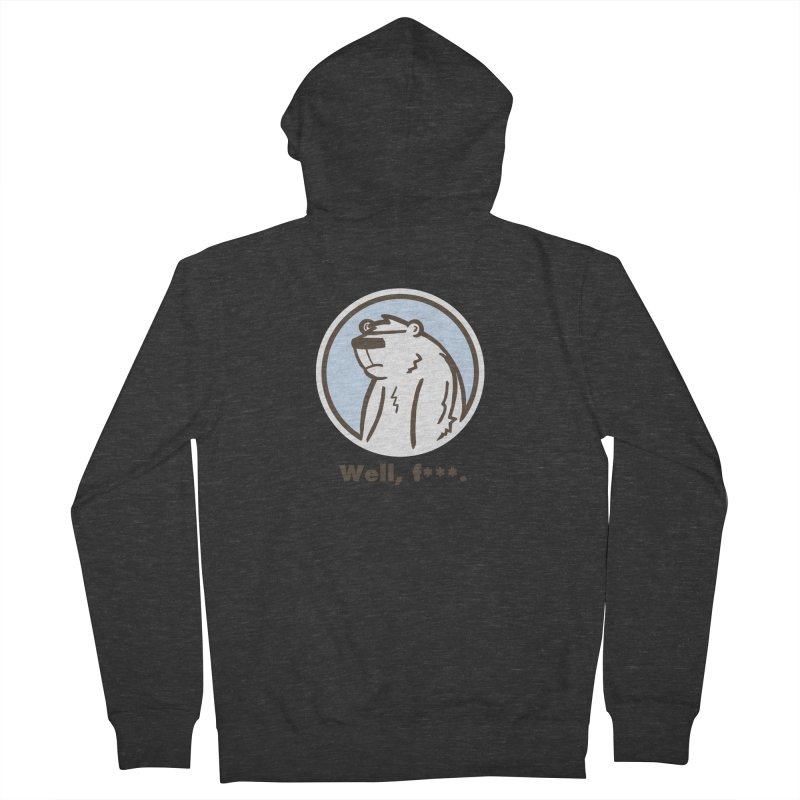 Well, cuss. Men's Zip-Up Hoody by P. Calavara's Artist Shop