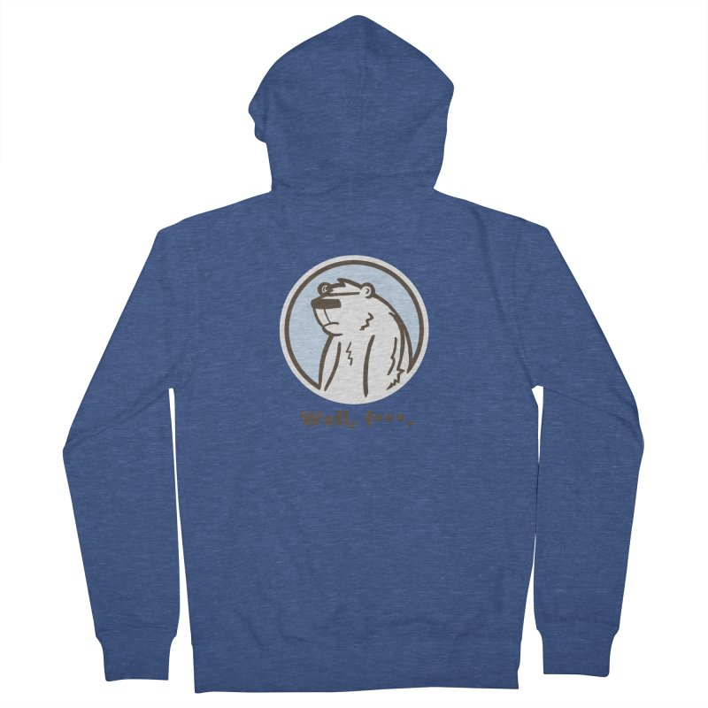Well, cuss. Men's French Terry Zip-Up Hoody by P. Calavara's Artist Shop
