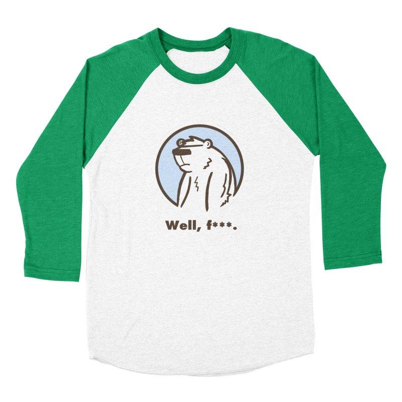 Well, cuss. Women's Baseball Triblend Longsleeve T-Shirt by P. Calavara's Artist Shop