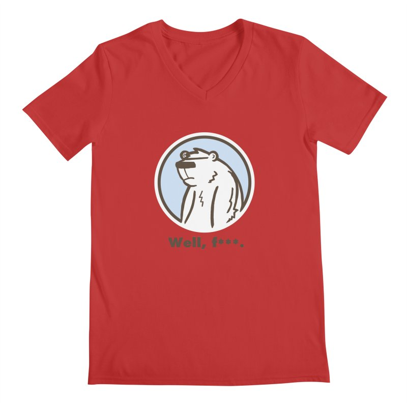 Well, cuss. Men's Regular V-Neck by P. Calavara's Artist Shop