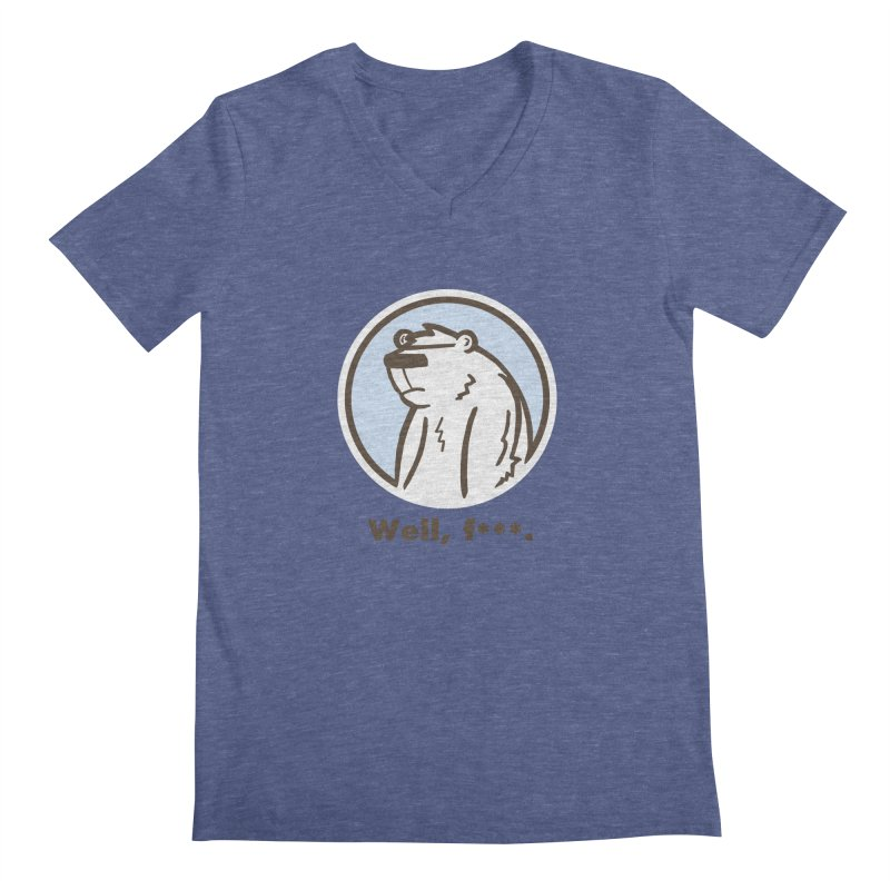 Well, cuss. Men's V-Neck by P. Calavara's Artist Shop