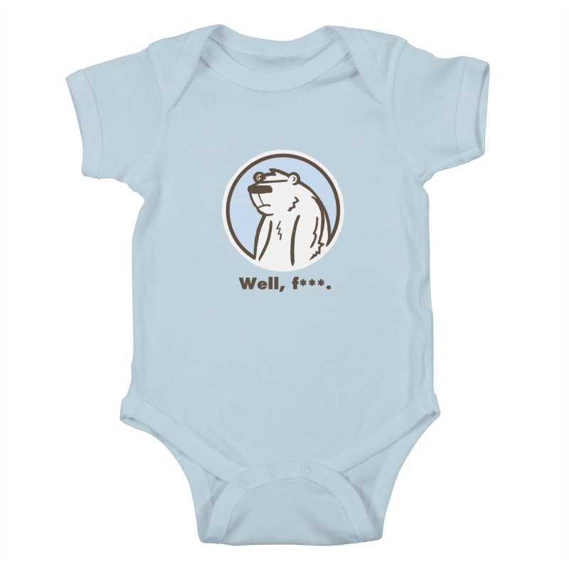 Well, cuss. Kids Baby Bodysuit by P. Calavara's Artist Shop