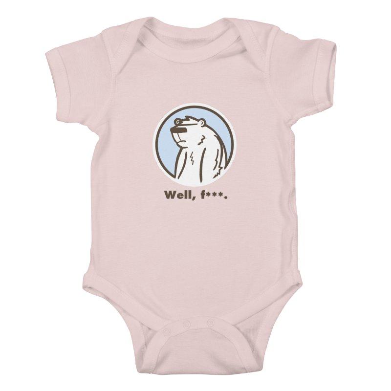 Well, cuss. Kids Baby Bodysuit by P. Calavara's Artist Shop