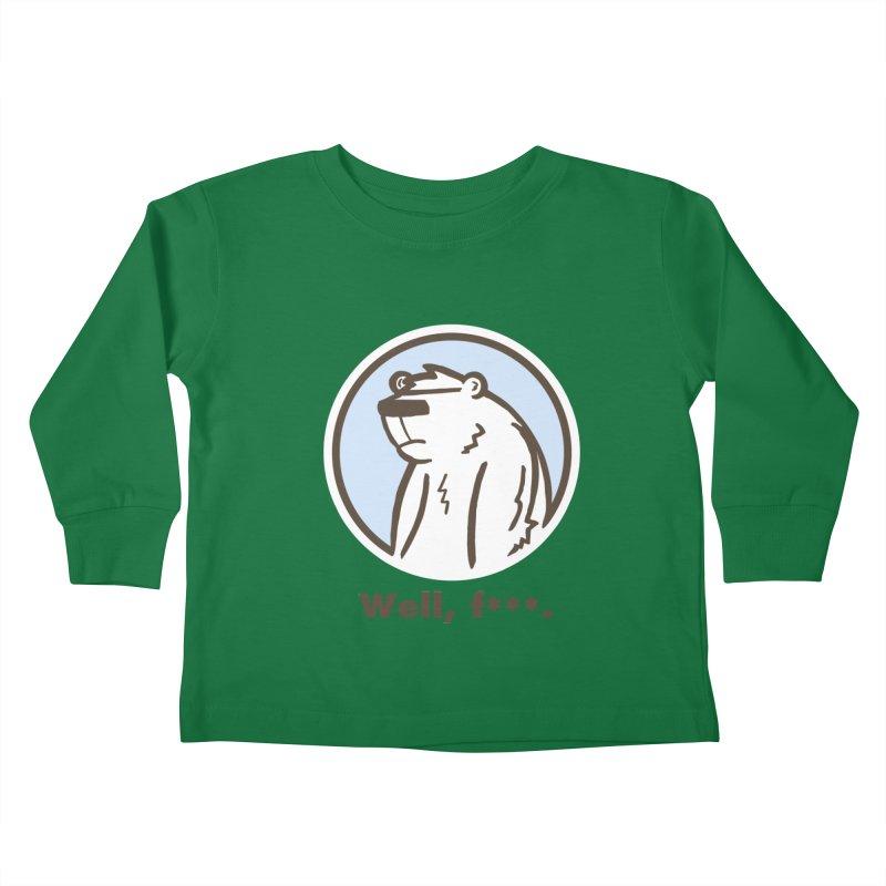 Well, cuss. Kids Toddler Longsleeve T-Shirt by P. Calavara's Artist Shop