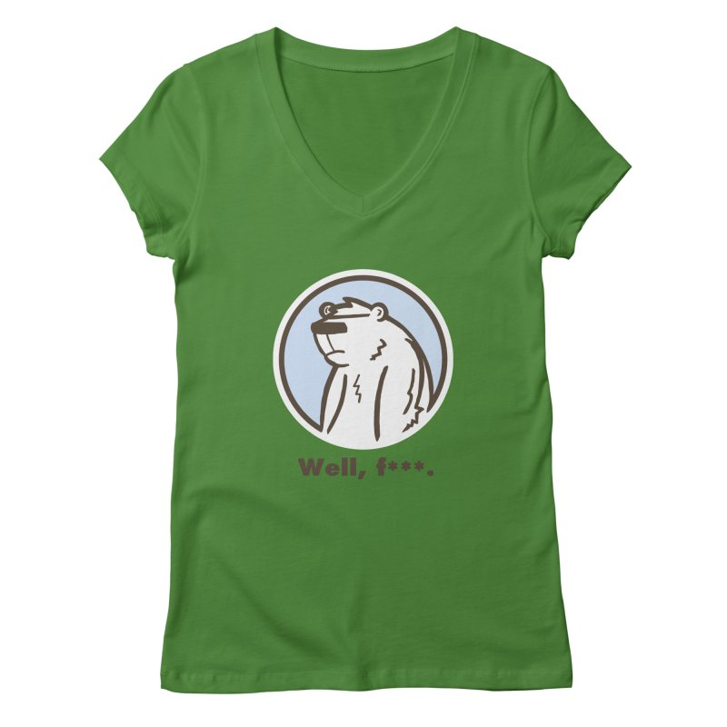 Well, cuss. Women's Regular V-Neck by P. Calavara's Artist Shop