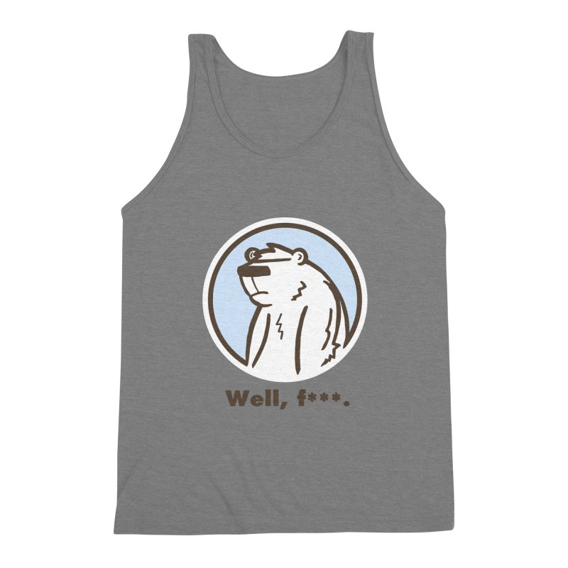 Well, cuss. Men's Triblend Tank by P. Calavara's Artist Shop