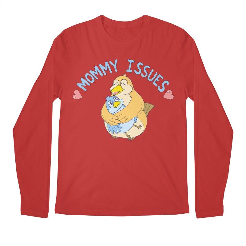 Mommy Issues (cute) Men's Longsleeve T-Shirt by P. Calavara's Artist Shop