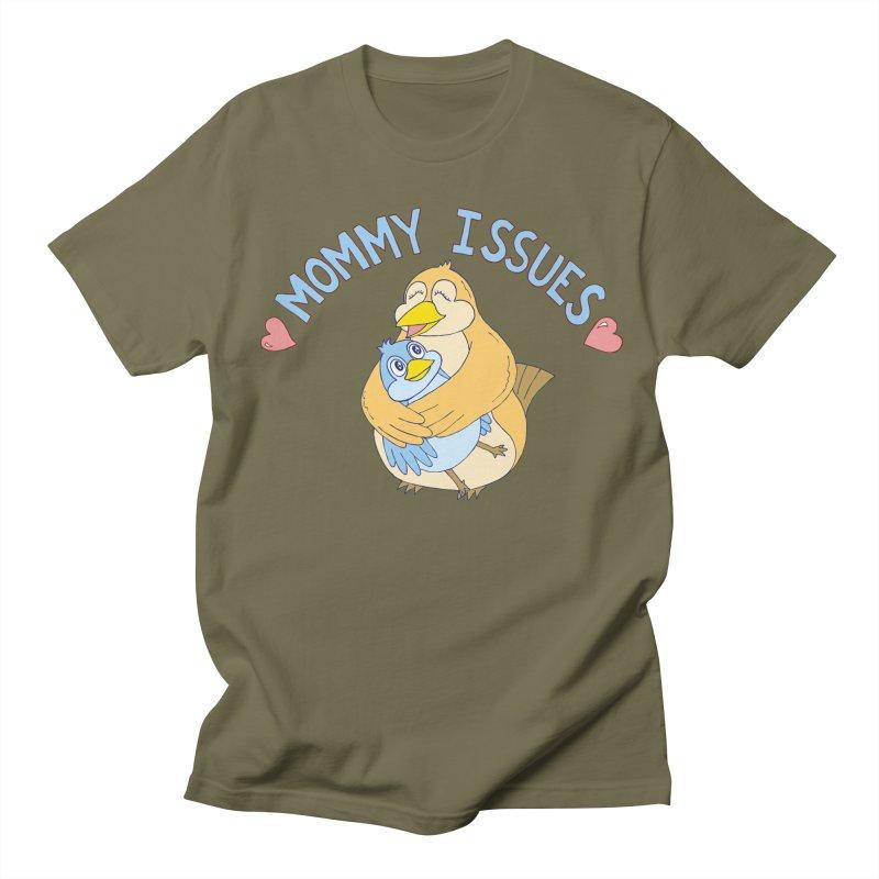 Mommy Issues (cute) Men's Regular T-Shirt by P. Calavara's Artist Shop