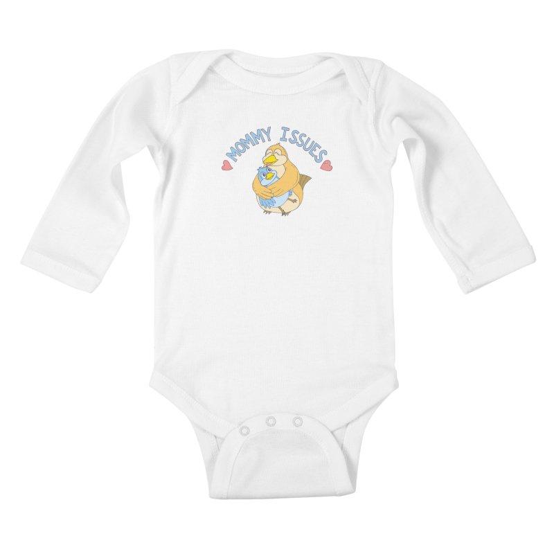 Mommy Issues (cute) Kids Baby Longsleeve Bodysuit by P. Calavara's Artist Shop