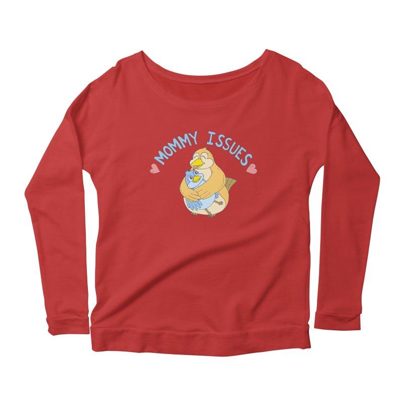 Mommy Issues (cute) Women's Longsleeve T-Shirt by P. Calavara's Artist Shop