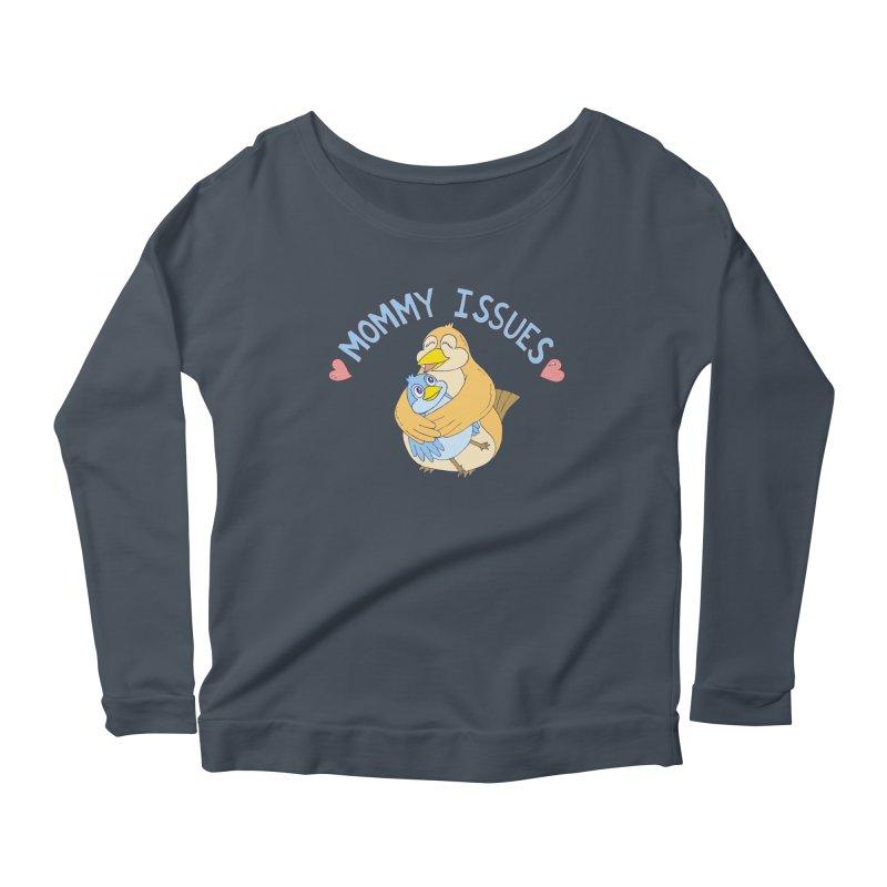 Mommy Issues (cute) Women's Scoop Neck Longsleeve T-Shirt by P. Calavara's Artist Shop