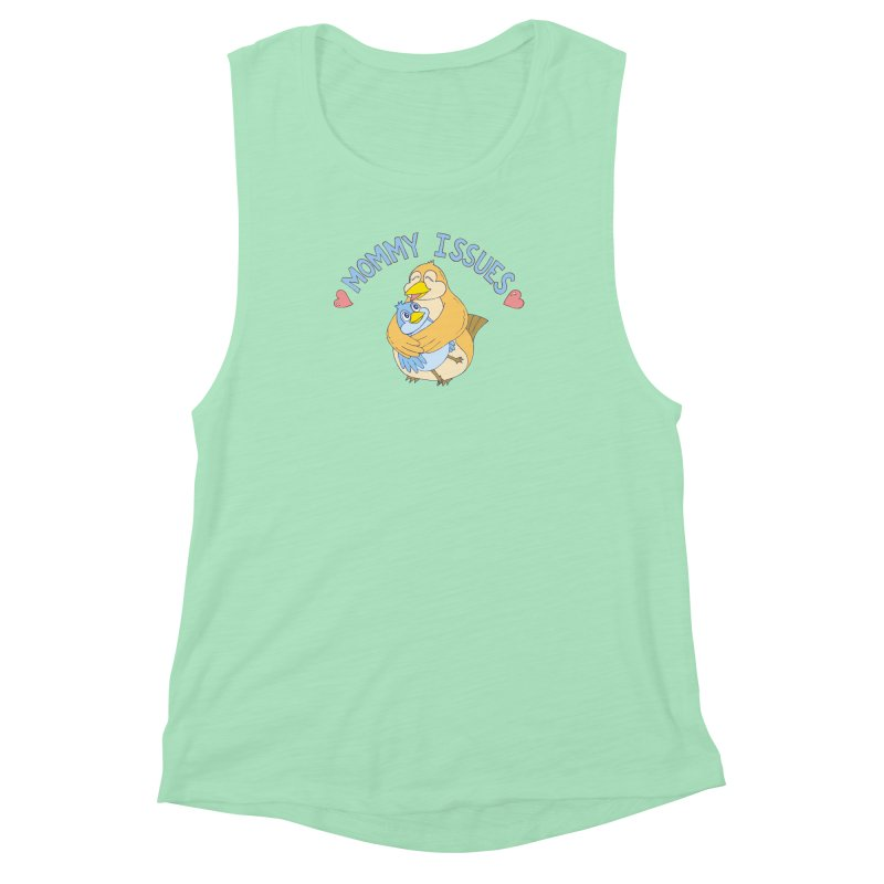 Mommy Issues (cute) Women's Muscle Tank by P. Calavara's Artist Shop