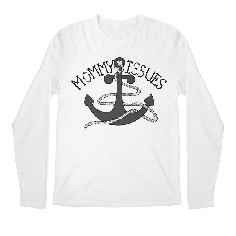 Mommy Issues (tough) Men's Regular Longsleeve T-Shirt by P. Calavara's Artist Shop