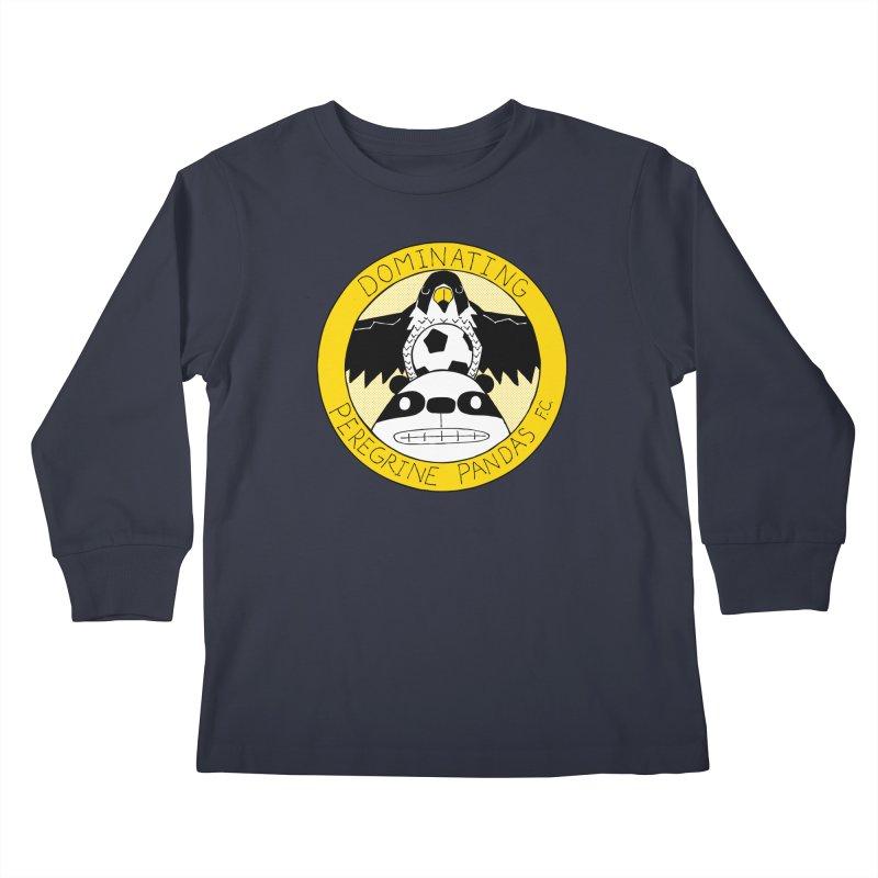 Dominating Peregrine Pandas FC Kids Longsleeve T-Shirt by P. Calavara's Artist Shop
